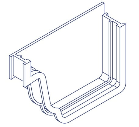K2 Conservatory Gutter Stopend Pair Conservatory