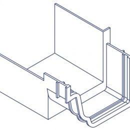 K2 Conservatory Box Gutter Adaptor Connector - Inline Right Hand