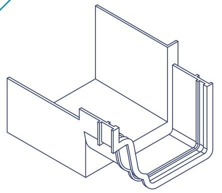 K2 Conservatory Box Gutter Adaptor Connector Inline