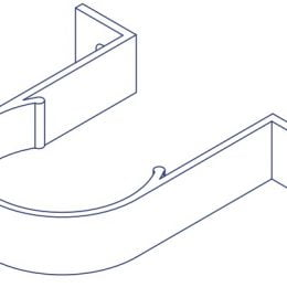 K2 Conservatory Gutter Downpipe Retention Clip