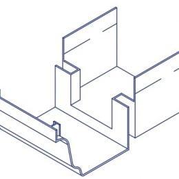 K2 Conservatory Box Gutter Adaptor - Universal T Shape