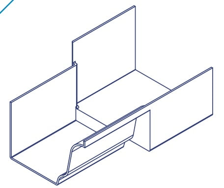 K2 Conservatory Box Gutter Adaptor 210mm Wide Inline