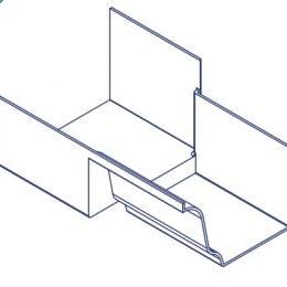 K2 Conservatory Box Gutter Adaptor - 210mm Wide Inline Offset Right Hand