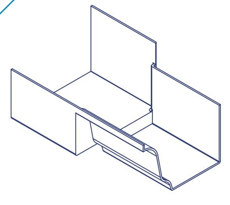 K2 Conservatory Box Gutter Adaptor 210mm Wide Inline