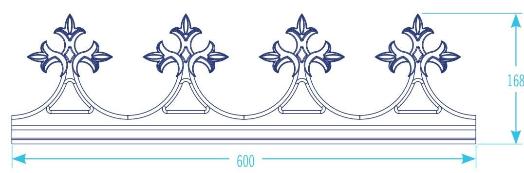 K2 Conservatory Aluminium Decorative Cresting Spikes