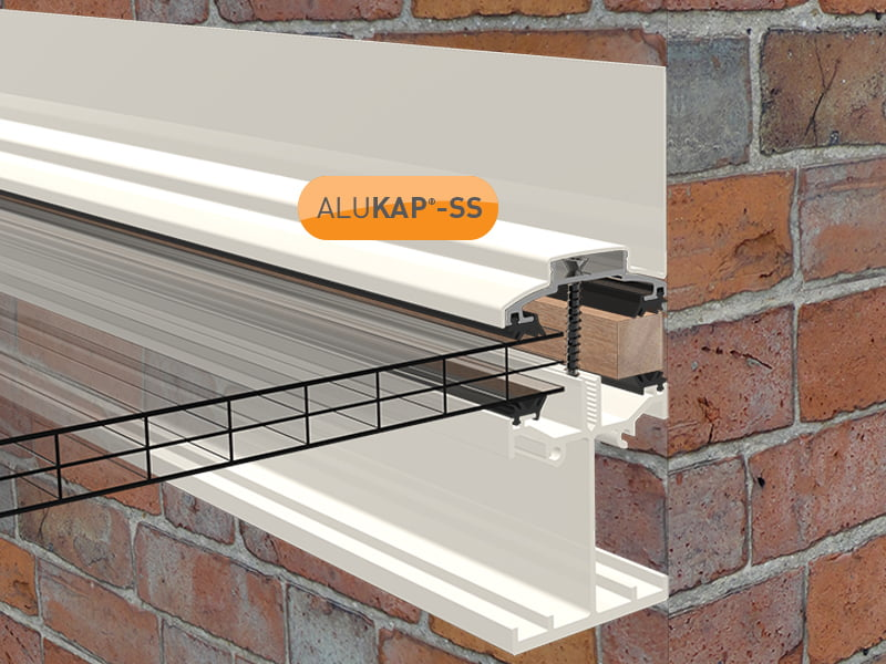 Alukap Ss Self Supporting Wall Bar Conservatory Spares