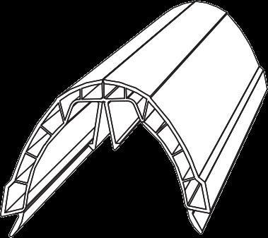 Cca600 Ultraframe Chambered Glazing Bar Top Cap Dome