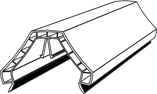 Cct600 Ultraframe Chambered Glazing Bar Top Cap Bevel