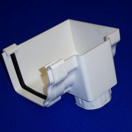 SSGO002R - Ultraframe Marley Classic Conservatory Gutter Right Hand Trunk Stop End Outlet