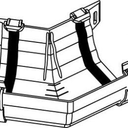 Hunter Regency Gutter Angle External 135 Deg 125mm R937